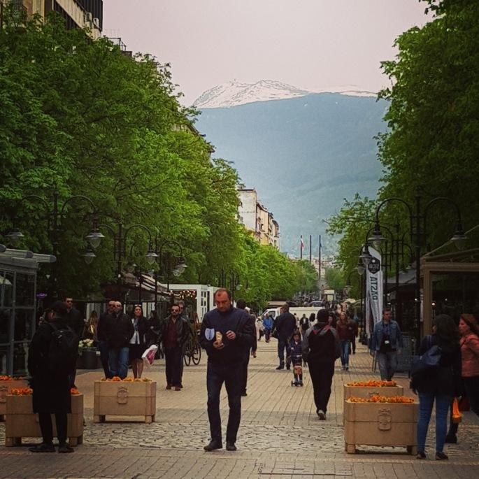 sofia mountain over city